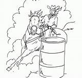 Coloring Barrel Racing Horse Printable Popular Library Clipart sketch template