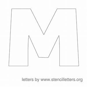 Large printable lettering stencils for Large letter m stencil