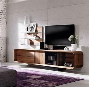 Meuble Haut Salon : meuble tv noyer massif meuble tv noyer design le luxe d 39 un meuble en noyer massif ~ Teatrodelosmanantiales.com Idées de Décoration