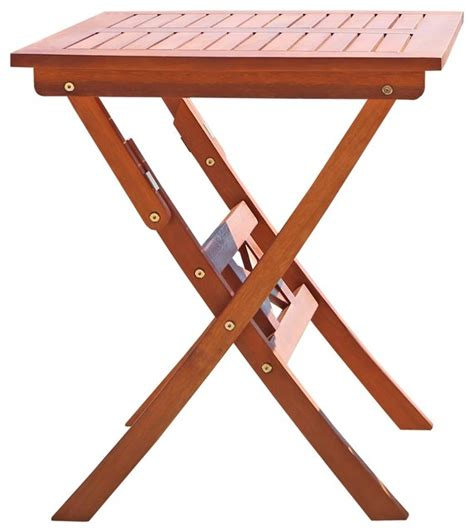 outdoor eucalyptus folding bistro table traditional