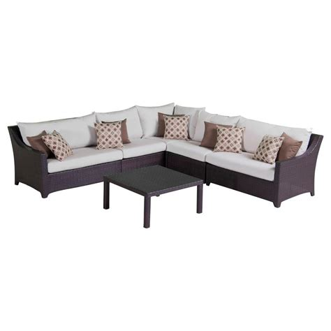 hton bay mill valley 4 patio sectional set with