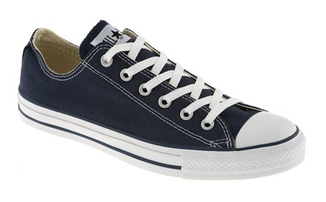 mens converse all low navy canvas trainers shoes ebay