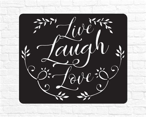 Our family decor, add's a little something to the home. Amazon.com: Live Laugh Love Sign Metal Wedding Gift Live Laugh Love Wall Decor Metal Sign Gift ...