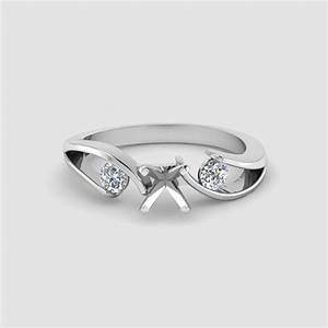 popular engagement ring settings fascinating diamonds With white gold wedding ring settings without stones
