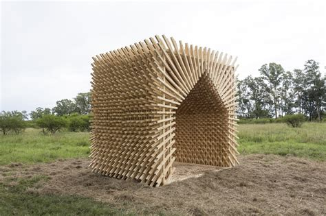 students construct timber structures   argentinian