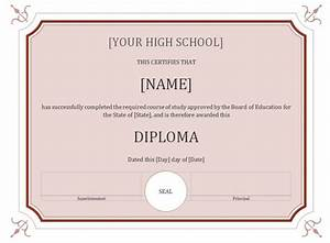 high school diploma template With high school diploma templates for free