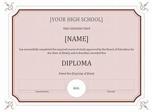50 free high school diploma template printable With free printable high school diploma templates