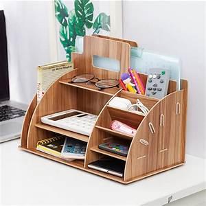 Wooden, Desktop, Organizer, Office, Supplies, Storage, Wooden, Desk, Organizer, Home, Office, Supply