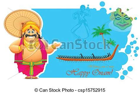 Onam Boat Icon by Vector Clip Art Of King Mahabali Enjoying Boat Race Of