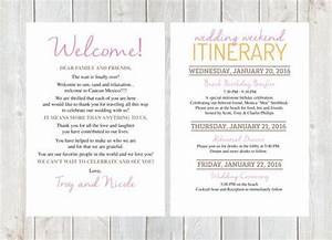 Welcome letter wedding welcome letter wedding itinerary for Destination wedding welcome letter wording