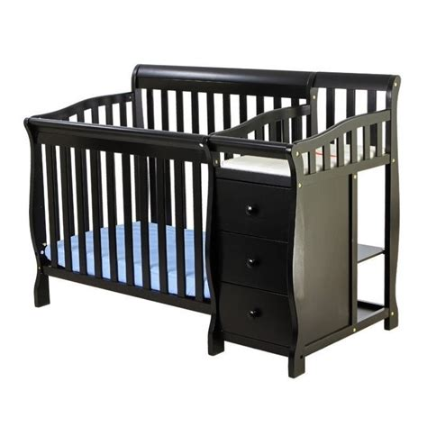 black convertible crib on me wooden 4 in 1 mini convertible crib and