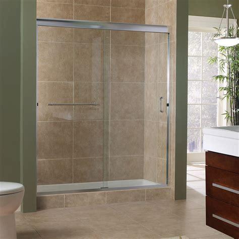 frameless sliding shower door marina collection 3 8 frameless sliding shower doors