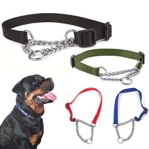 misterolina nylon dog collar  welded link chain pet