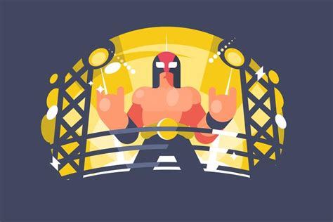Mexican Wrestler Illustration