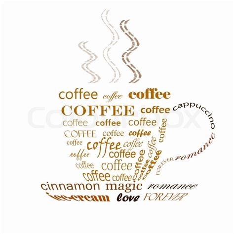 what is a word made up of four letters a picture of a cup of coffee made up of words stock 25555 | 800px COLOURBOX2396335
