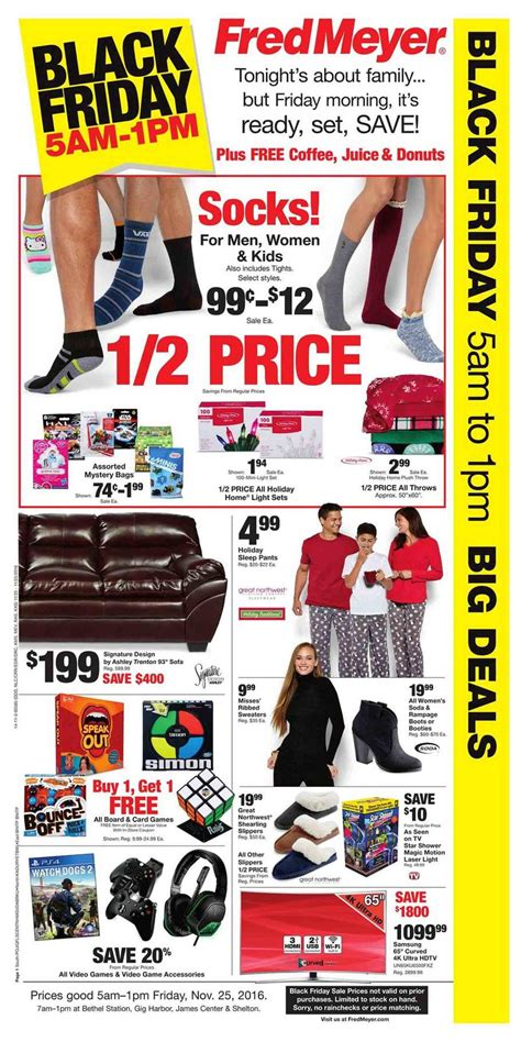 Fred Meyer Furniture Ad by Fred Meyer Black Friday 2017 Ads Deals And Sales
