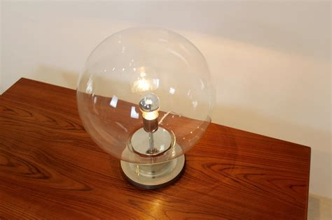 glass globe table l large mid century chrome glass globe table l from