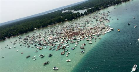 It is located at the entry from lake superior to the portage canal. Nonprofit seeks to block Torch Lake sandbar parties