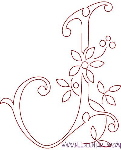 monogram  hand embroidery letters    needlenthreadcom