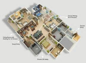 house plans with apartment 4 bedroom apartment house plans