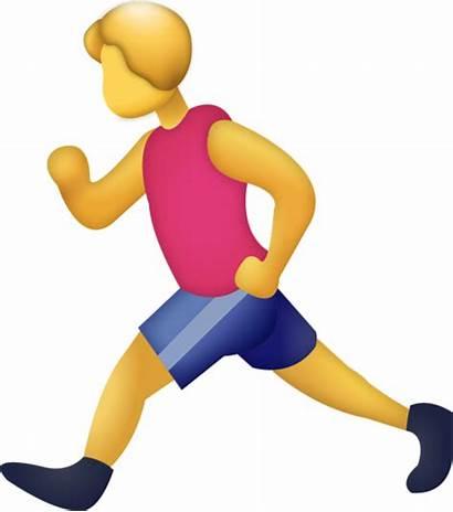 Emoji Running Iphone Emojis Icon Jogging Island