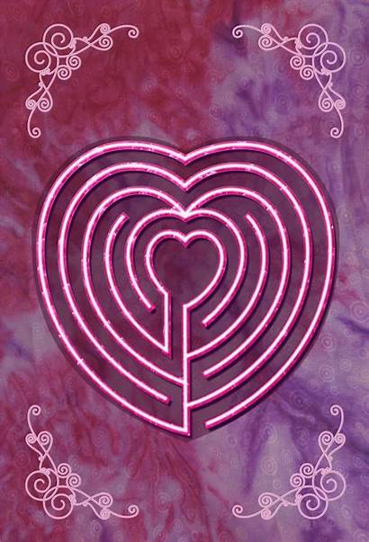 Heart Labyrinth Journal Tracing Happy Celtic Designs