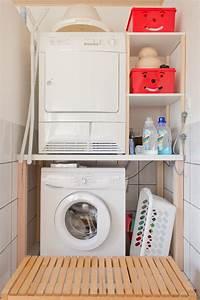 Trockner Auf Waschmaschine Schrank : badnische mit waschmaschine und trockner for my home laundry bathroom ~ Frokenaadalensverden.com Haus und Dekorationen