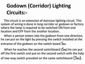 Simple Control Circuits In Domestic Installations Ppt Eee