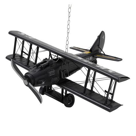 le de bureau vintage avion déco en métal 18 x 42 cm army maisons du monde