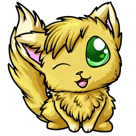 Anime Chibi Yellow Commission Chibi Just A Yellow Cat By Mega Arts On