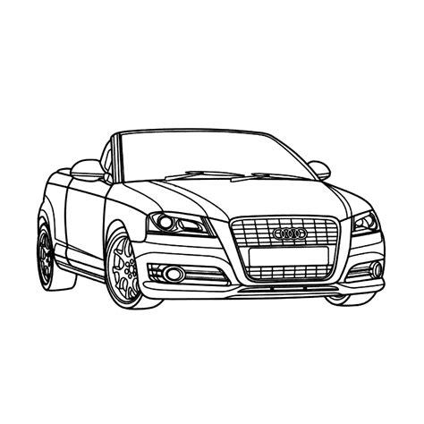 Bmw Kleurplaten A4 by Leuk Voor Audi A3 Cabrio