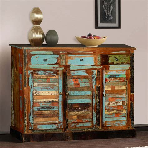 Reclaimed Wood Buffet Sideboard by Dravin Rustic Reclaimed Wood 3 Drawer Sideboard Buffet Cabinet