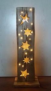 Weihnachtsbaum Aus Holz Beleuchtet : deko objekte holzbrett mit sterne led beleuchtung ein designerst ck von filz holz und mehr ~ Watch28wear.com Haus und Dekorationen