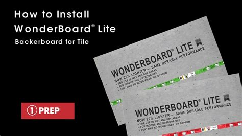 How To Install Wonderboard Lite Backerboard For Tile  Youtube