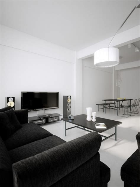 inspire white  black living room designs