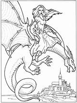 Coloring Dragon Pages Dragons Adults Printable Detailed Water Colouring Rider Knights Sheets Knight Label Realistic Drakon Flies Castle Viewing Yahoo sketch template