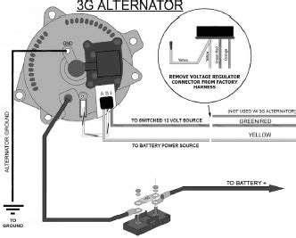 ford alternator wiring diagram internal regulator circuit
