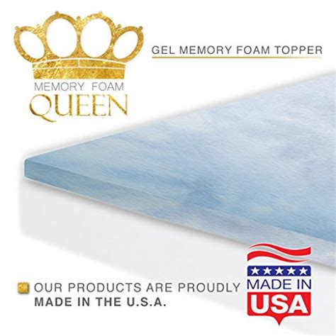 gel memory foam mattress topper pad king size bed buy   uae furniture products