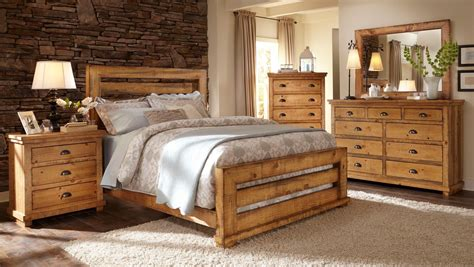 willow slat bedroom set distressed pine progressive