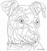 Pinscher Coloring Min Miniature Dog Dogs Instant sketch template