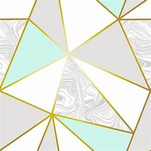 Zara Marble Metallic Wallpaper Mint Gold ILW980106