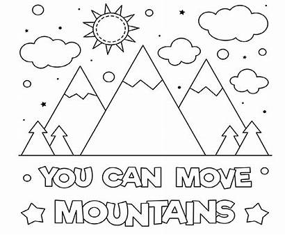 Coloring Mountains Move Printable Nature