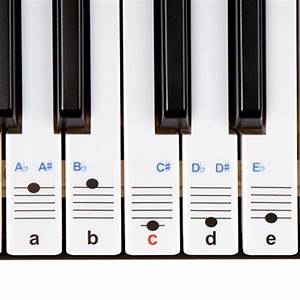 keysies transparent plastic removable piano and keyboard With piano keyboard letter stickers