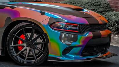 Charger Dodge Camo Wrapped Scatpack Holographic 4k