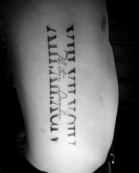 roman numeral tattoos  men ideas  designs  guys