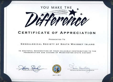 volunteer certificate template thank you certificates for volunteers thiscertificate signed by sam reed of state