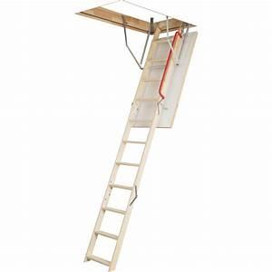 Escalier Escamotable Isolé Leroy Merlin : escalier escamotable droit structure bois marche bois leroy merlin ~ Melissatoandfro.com Idées de Décoration