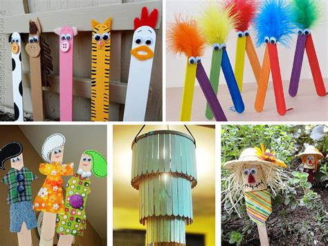 super easy  inexpensive diy popsicle stick crafts