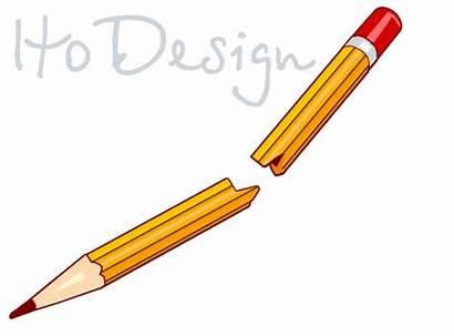 Broken Clip Pencil Clipart Broke Vector Drawing