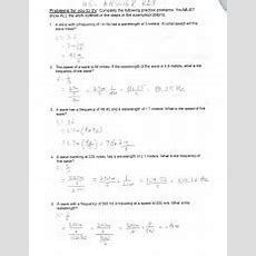 Wavespeedequationpracticewshsanswers1276fvppdf  Lts Prnwlie Key Problems For You To Tut